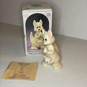 "Vintage Precious Moments ""Hello World!"" Figurine"